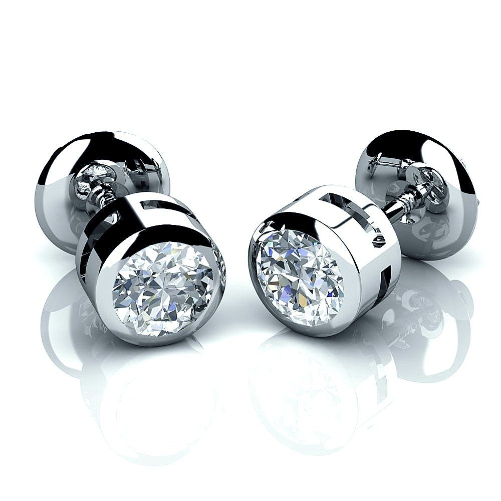 Round Diamond Earrings For Men