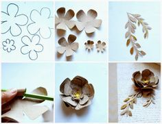 Christmas Paper Flower Tutorial  |  via:  Lucy Akins of Craftberry Bush
