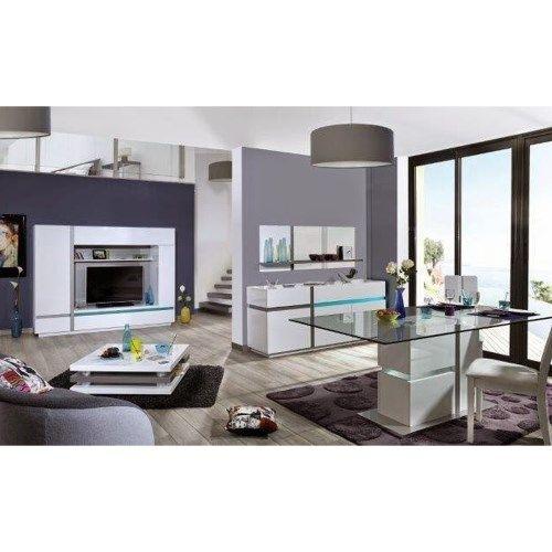 Sciae Cross 36 TV Unit in High Gloss White Fantastic Furniture