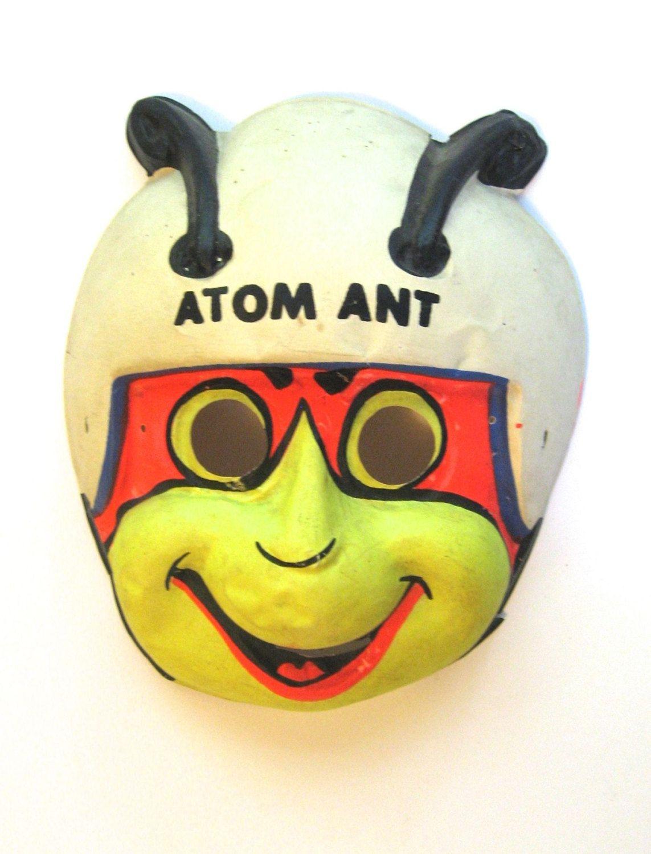 RESERVED for Gary! Vintage 1965 Atom Ant Halloween mask Ben Cooper ...