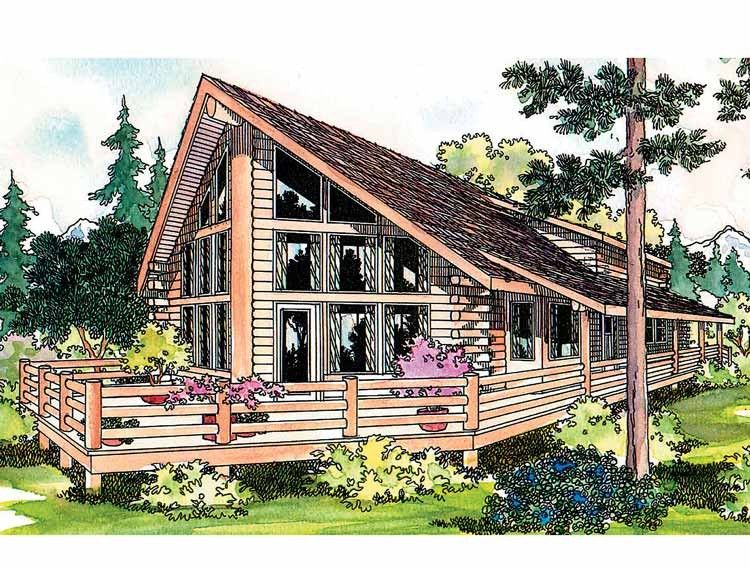 One Of These Days Joe Will Get His A Frame A Frame House Plans Log Cabin House Plans Log Home Plans