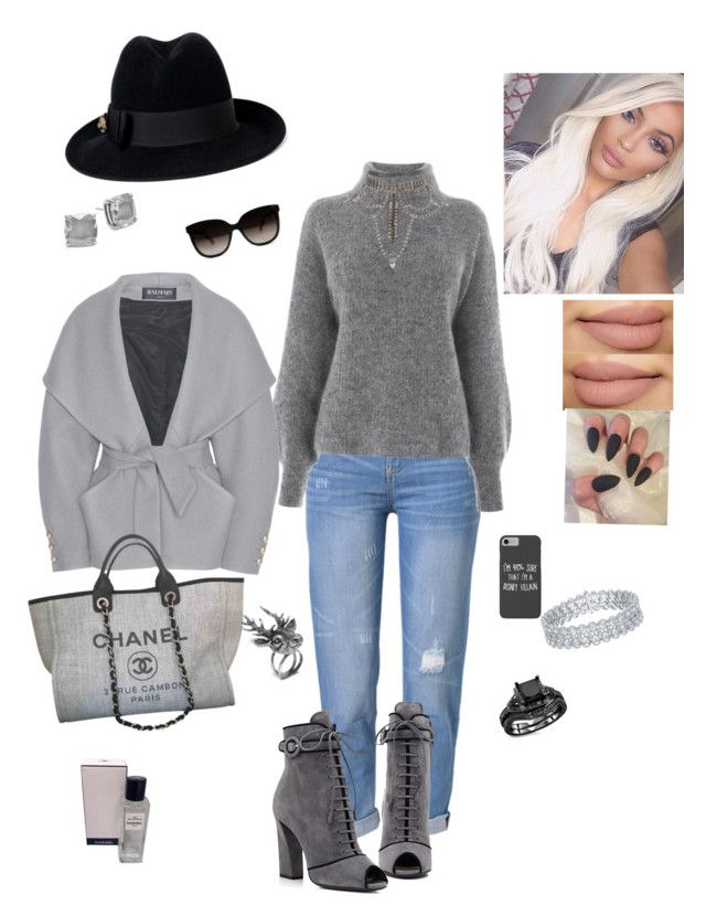 """Feeling a bit gray"" by angela-glasco-may on Polyvore featuring WithChic, Warehouse, Prada, Balmain, Chanel, Kate Spade, Mulberry, Disney and Gucci"