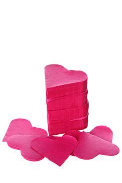 /Confettis coeur en papier fushia