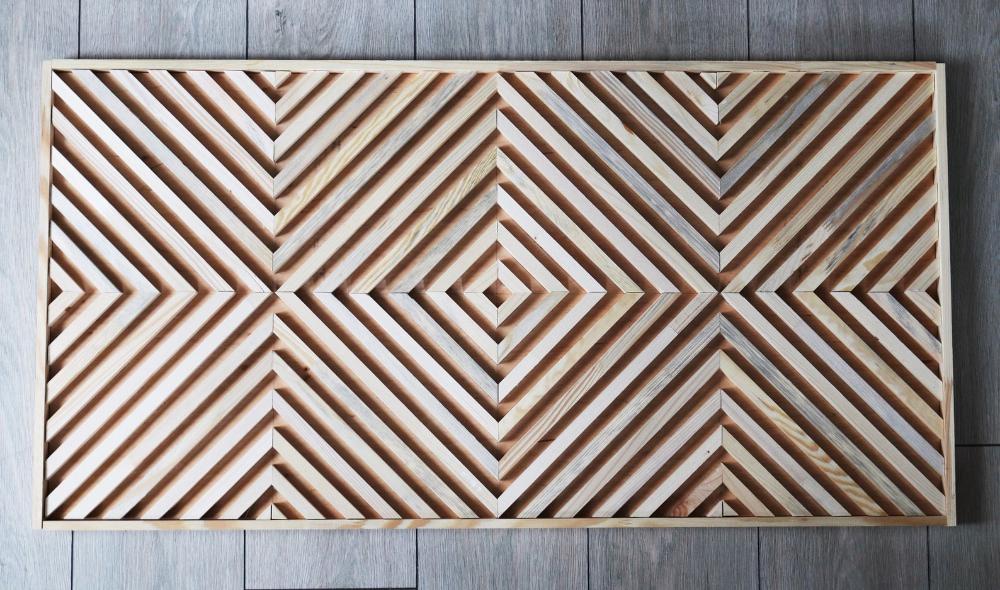 Wooden Wall Art Geometric