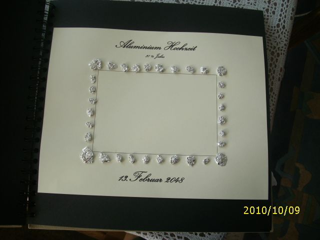 Aluminiumhochzeit 37 5 Jahre Hochzeitstagealbum Pinterest