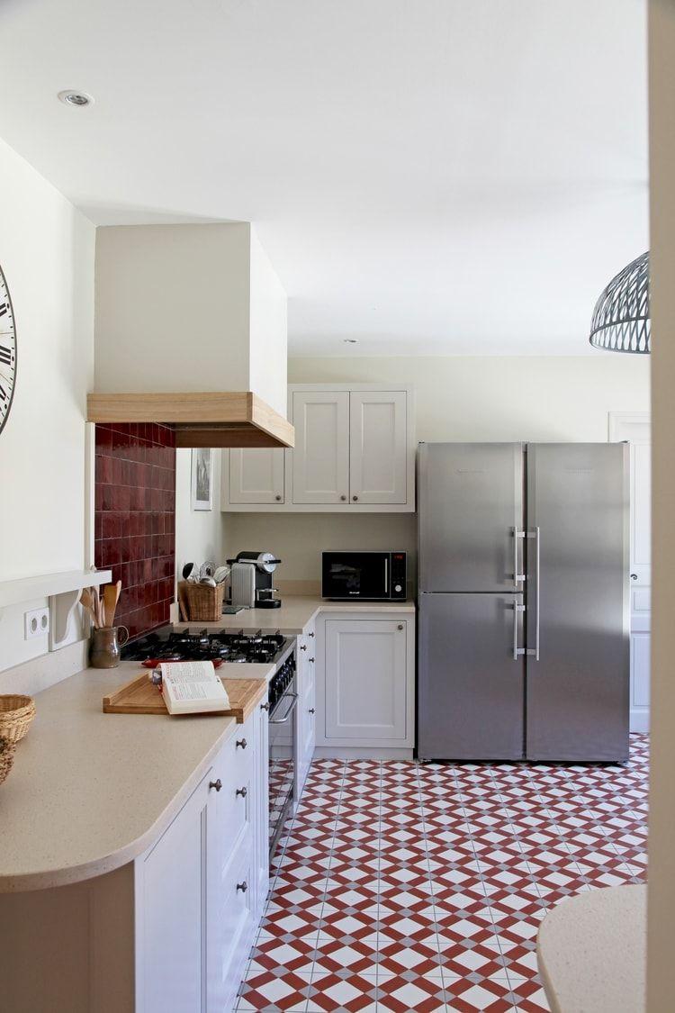 Cuisine blanche et rouge  Cuisine blanche, Veranda cuisine