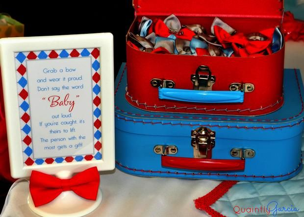 Bow Tie Baby Shower Ideas, Kite Baby Shower, Blue Aand Red By Adriana Via