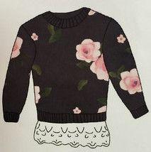 Mae Li Rose Charcoal Floral Sweatshirt (sz 7-10) FALL 2016 PREORDER