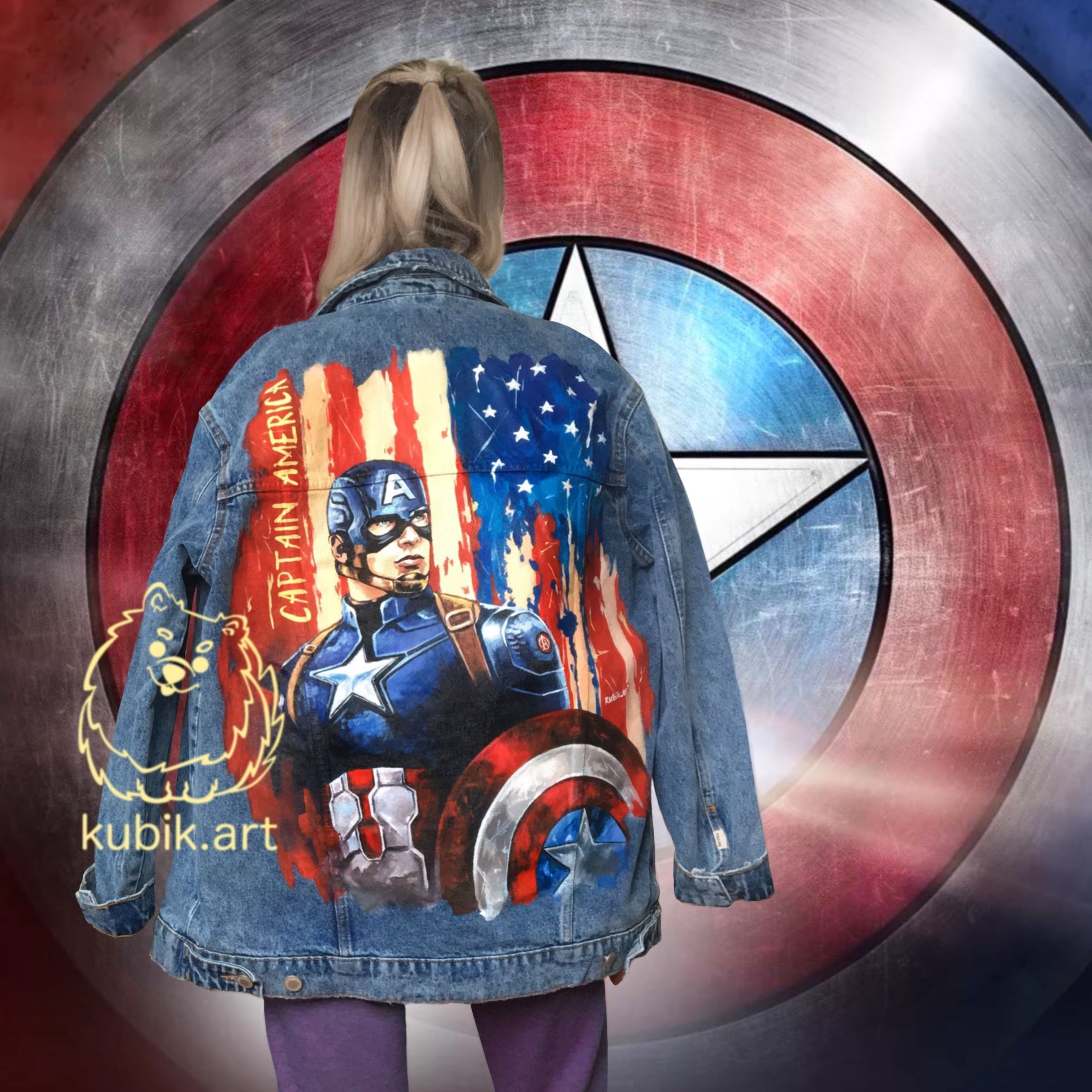 Captain America Custom Denim Jacket Marvel Hand Painted Etsy Painted Denim Hand Painted Denim Jacket Painted Denim Jacket [ 2187 x 2187 Pixel ]