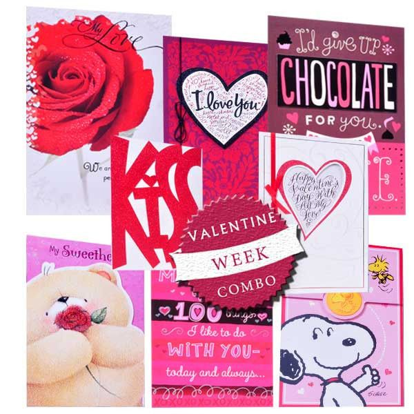 Valentine Week Cards 8 Cards Gift Hampers Pinterest