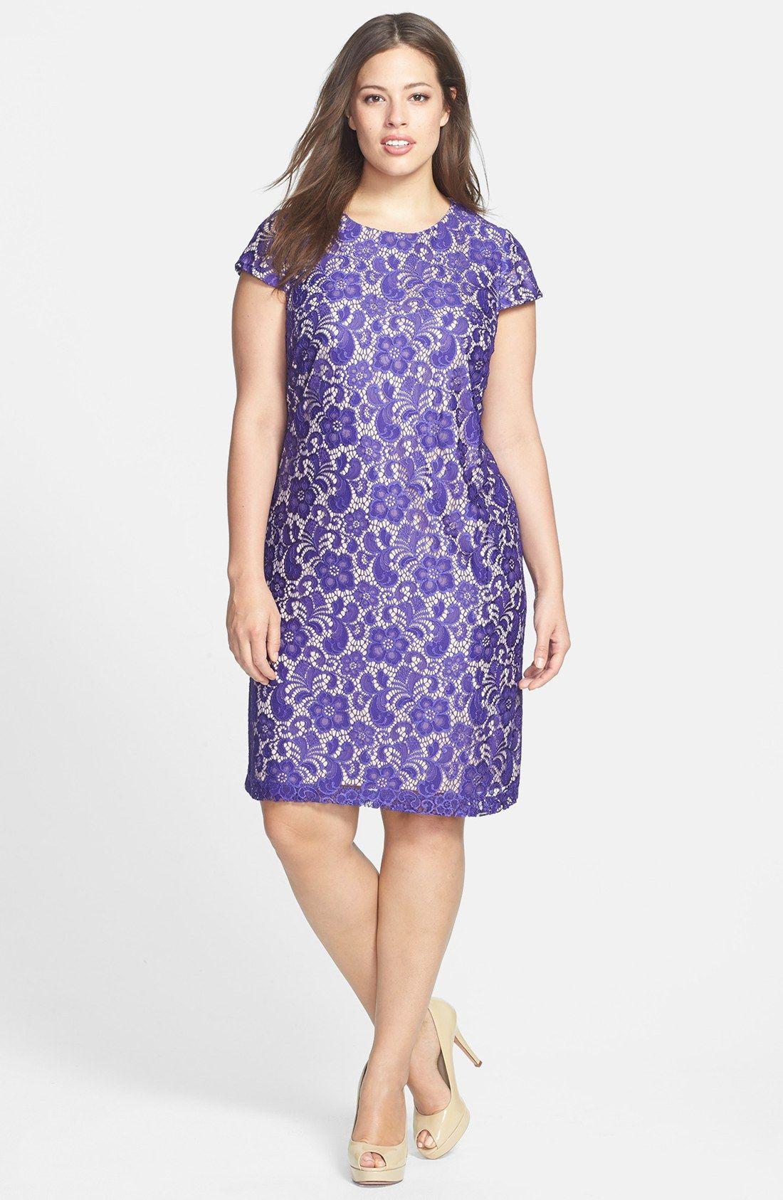 Ivy & Blu for Maggy Boutique Lace Shift Dress (Plus Size ...