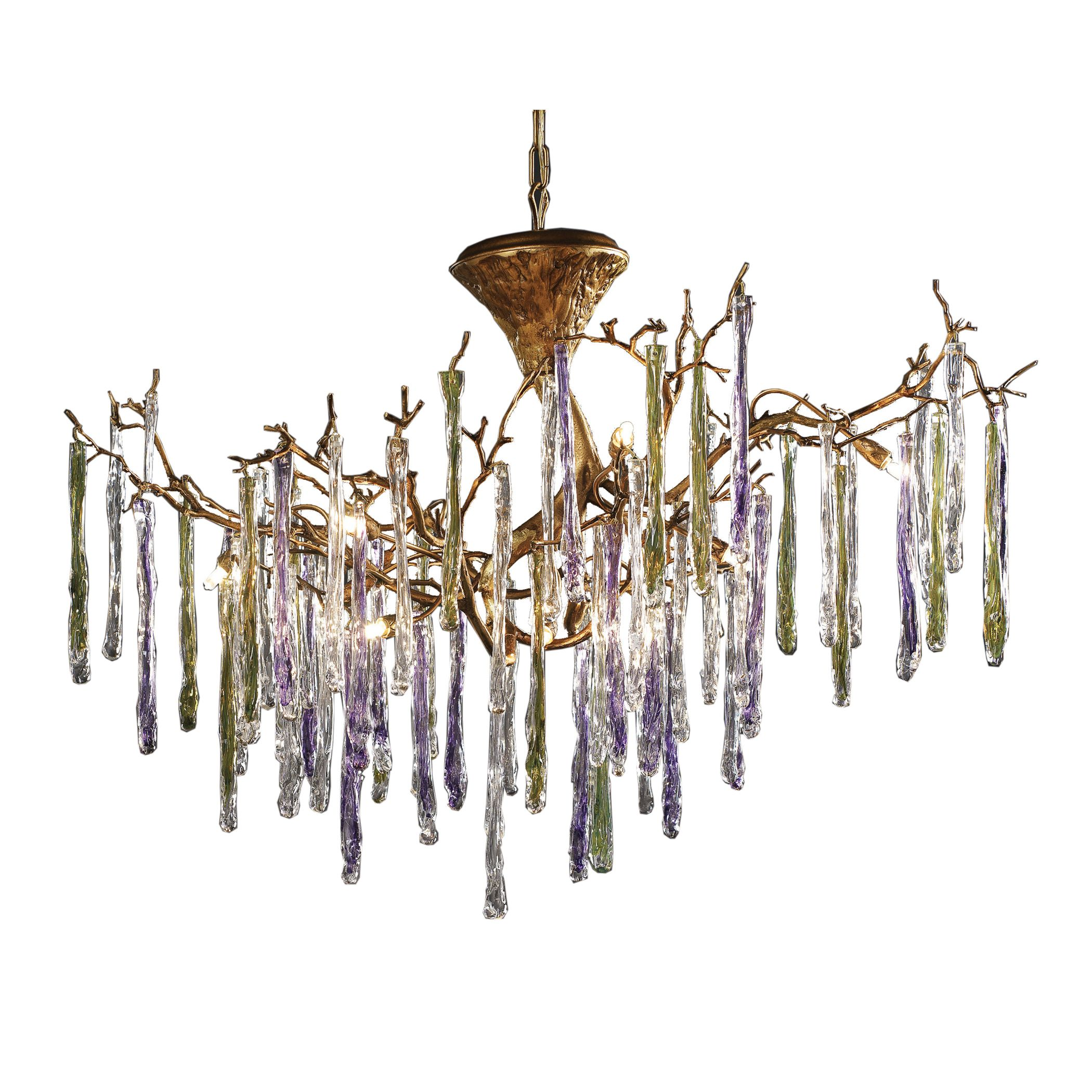 Stalavidri 12 light chandelier in talha bronze and multi hued spires stalavidri 12 light chandelier in talha bronze and multi hued spires arubaitofo Choice Image