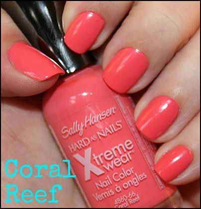 Cute Coral Color for nails. Survived a whole shift at the hospital without chipping.