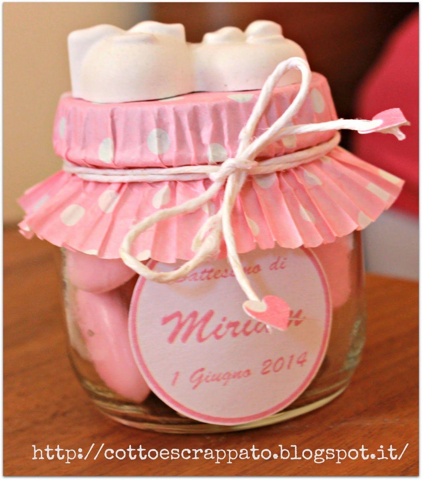 Cotto e Scrappato: Le bomboniere del Battesimo di Miriam..1...2...3 ...