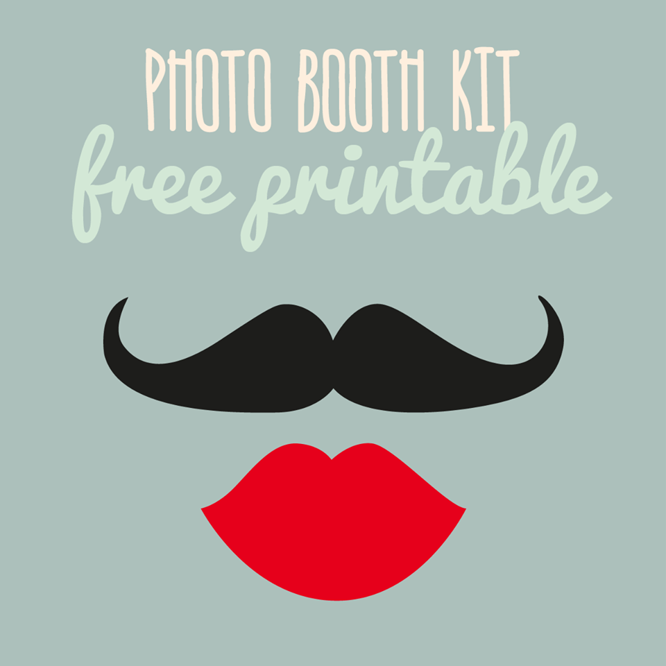 Estremamente photo booth props fai da te da stampare gratis | PHOTO BOOTH  MG91