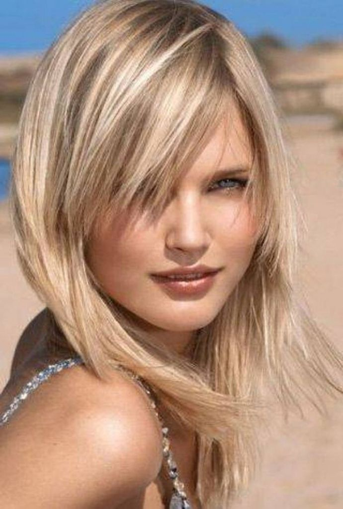 Shoulder Length Hairstyle Delectable Medium Length Haircut For Fine Hair 2016 Shoulder Length Angle Hair