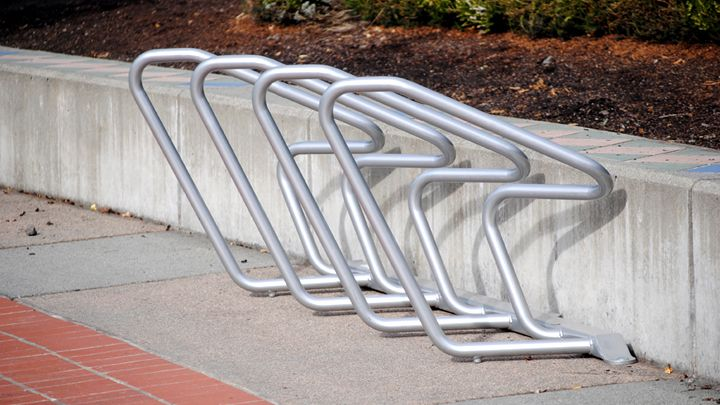 Plaza™ High Density Bike Rack - Single Sided – Sportworks