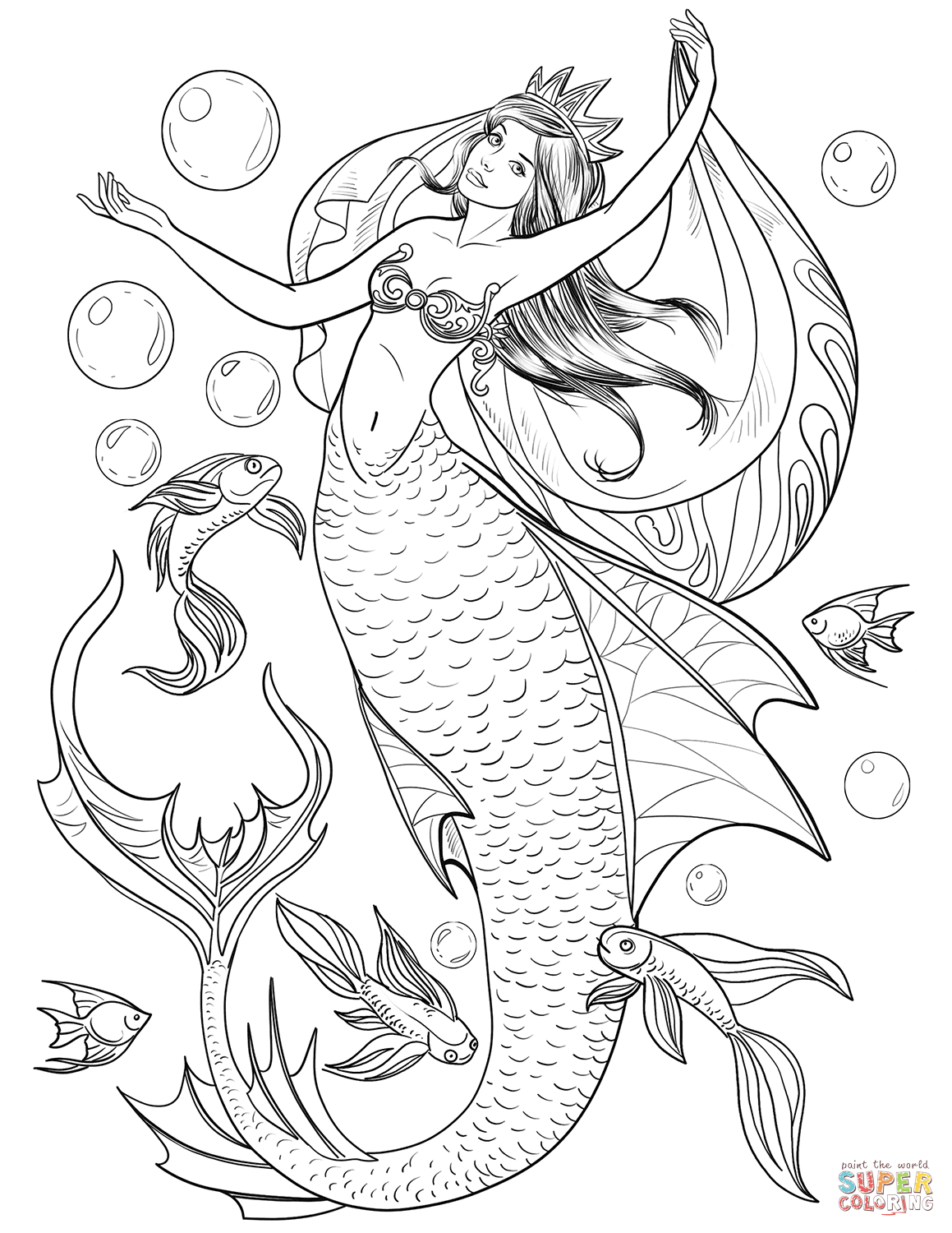 Mermaid Coloring Page Free Printable Coloring Pages Mermaid Coloring Book Mermaid Coloring Mermaid Coloring Pages