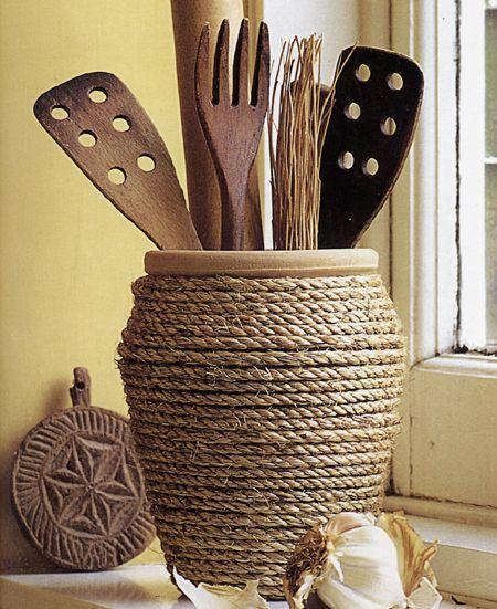 Come realizzare un porta utensili da cucina fai da te | TID BITS ...