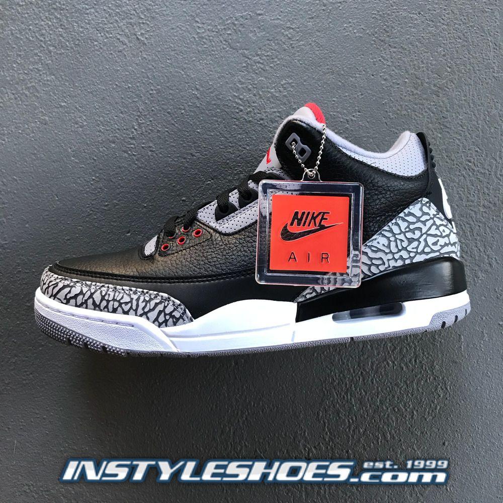 quality design 305c1 9691e Nike Air Jordan 3 OG Black Cement Grey 2018 Retro 854262-001 88   MichaelJordan  AirJordan  Jordans