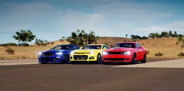 Forza Horizon 3 2017 Camaro Zl1 Vs Shelby Gt350r Vs Dodge