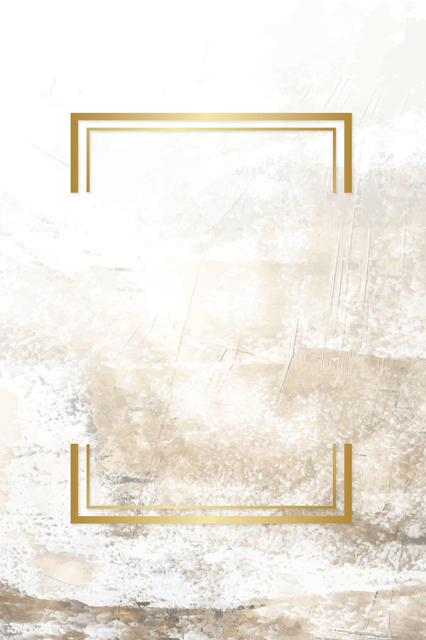 Golden Framed Badge On A Grunge Textured Vector Free Image By Rawpixel Com Adj Gold Wallpaper Background Floral Wallpaper Phone Phone Wallpaper Patterns