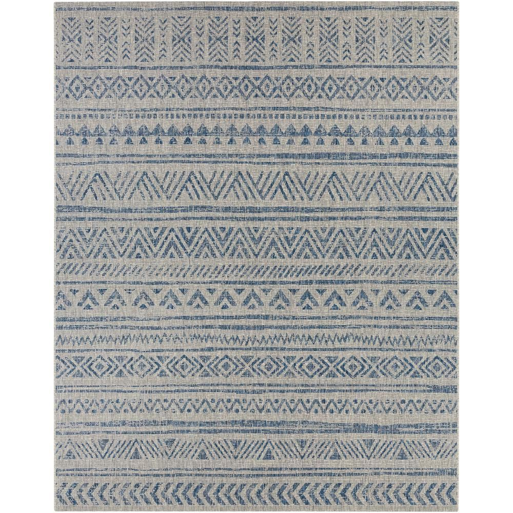 Artistic Weavers Eartha Denim 8 Ft X 10 Ft Indoor Outdoor Area Rug S00151068760 The Home Depot Chevron Rugs Rugs In Living Room Area Rugs