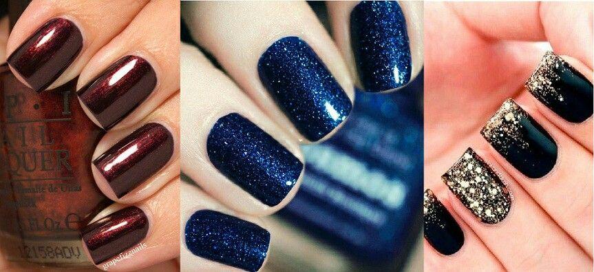3 winter gel nail looks   nails   Pinterest