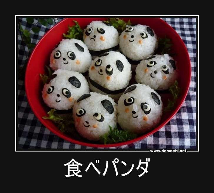 Rice ball panda- @Emily McNary (With images)   Panda food. Cute food. Panda sushi
