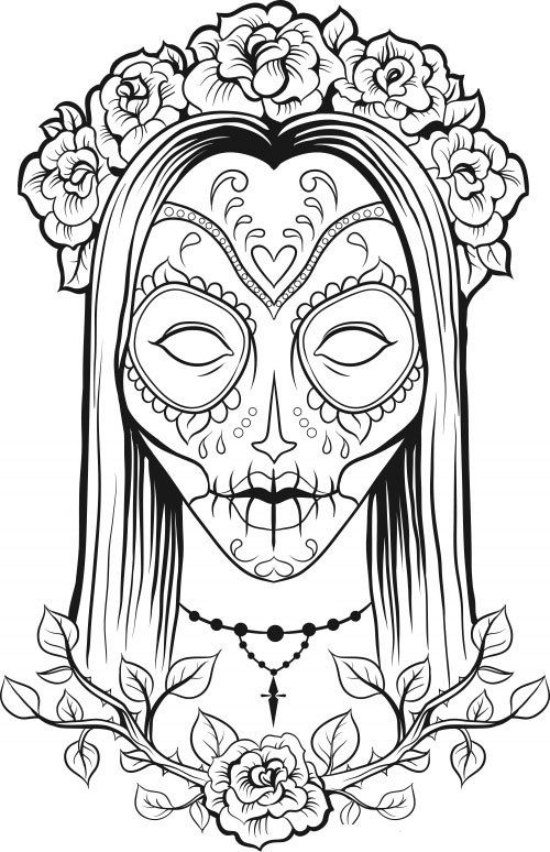 Adult Coloring Pages Punk Girl 1