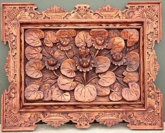 Story Boards Hand Carved Wood Wall Panel Decoration Ornament Bali