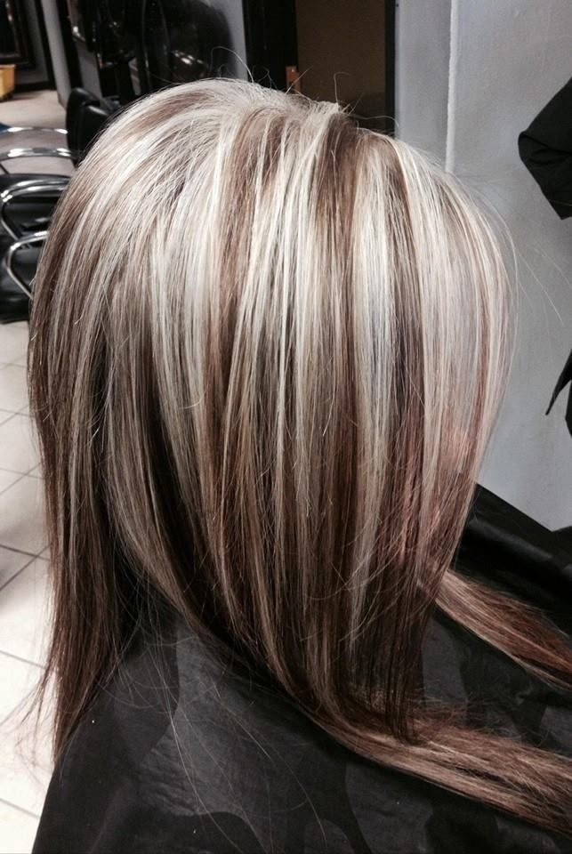 Via prettydesignsblack hair with blonde highlights for brown hair with chunky platinum highlights blonde highlights chunky pmusecretfo Image collections
