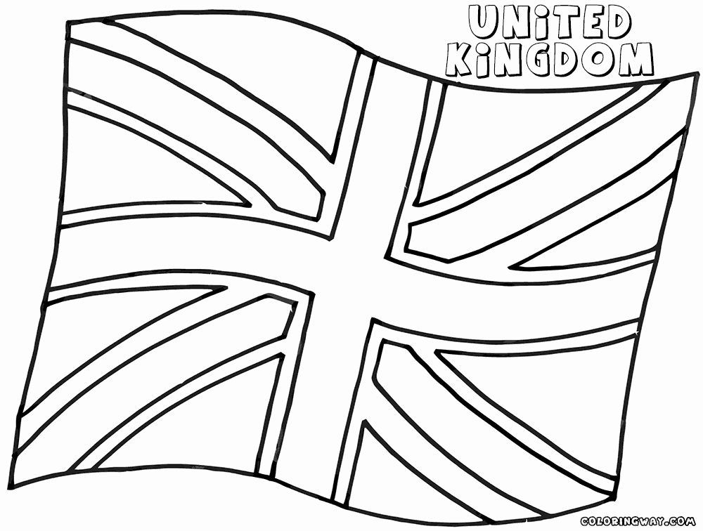 Uk Flag Coloring Pages Fresh England Flag Coloring Pages