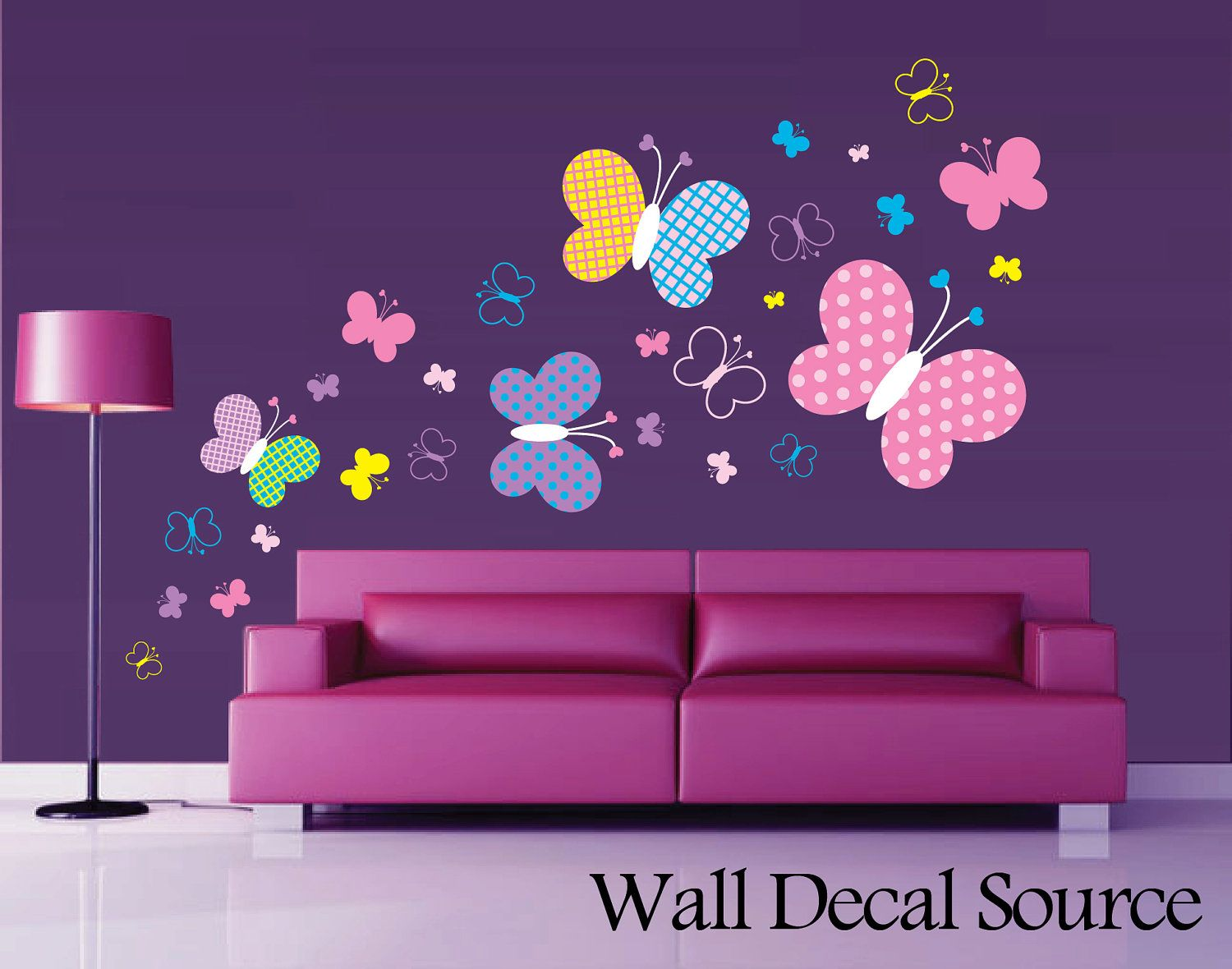 High Quality Patterned Butterfly Wall Decal Vinyl Butterfly By WallDecalSource, $50.00