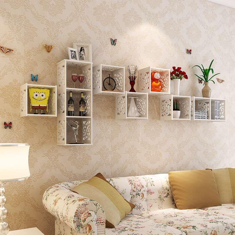 Cheap Pared estantería tallada tablilla tv fondo decoración de la ...