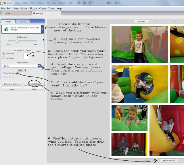 Karen Funk Design Blog: How to do a Photo Collage in Picasa