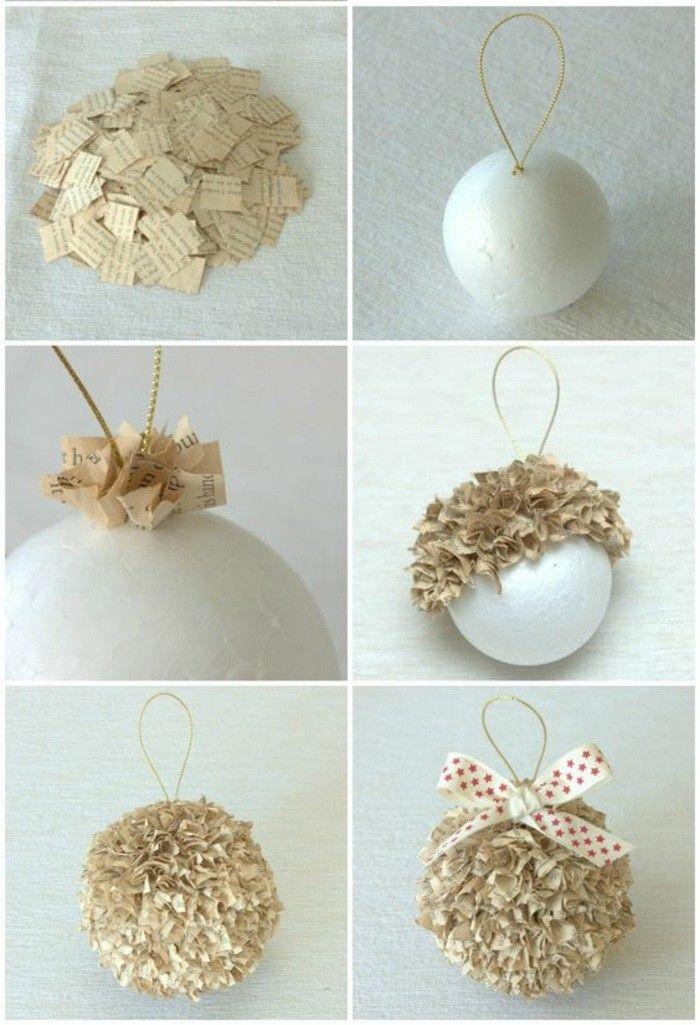Weihnachtendekoration Selber Machen Weihnachtsdeko Ideen Weihnachtskugeln  Aus Papier