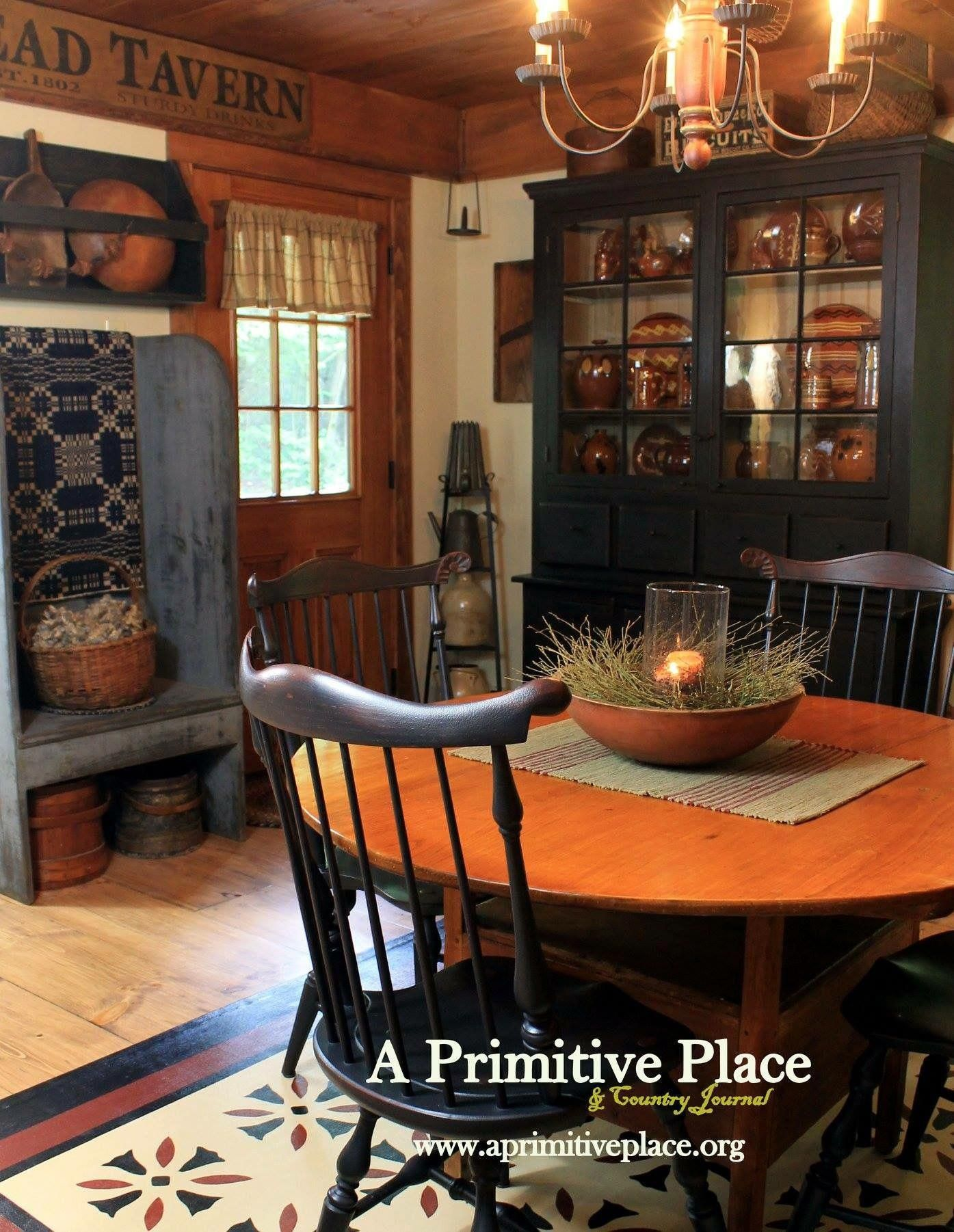 Pin On Primitive Colonial Dining Rooms
