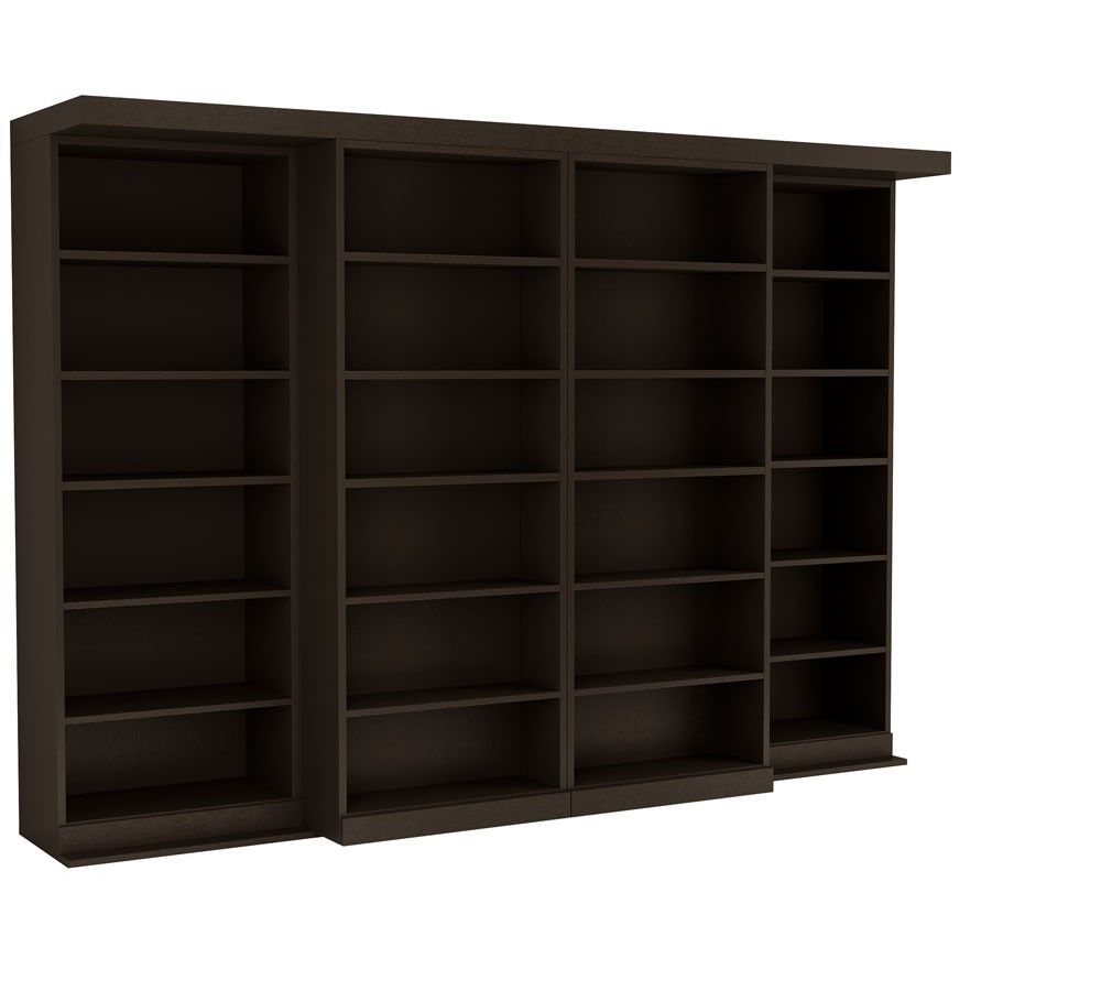 The Abbott Library Murphy Bed in Coffee Bean Finish