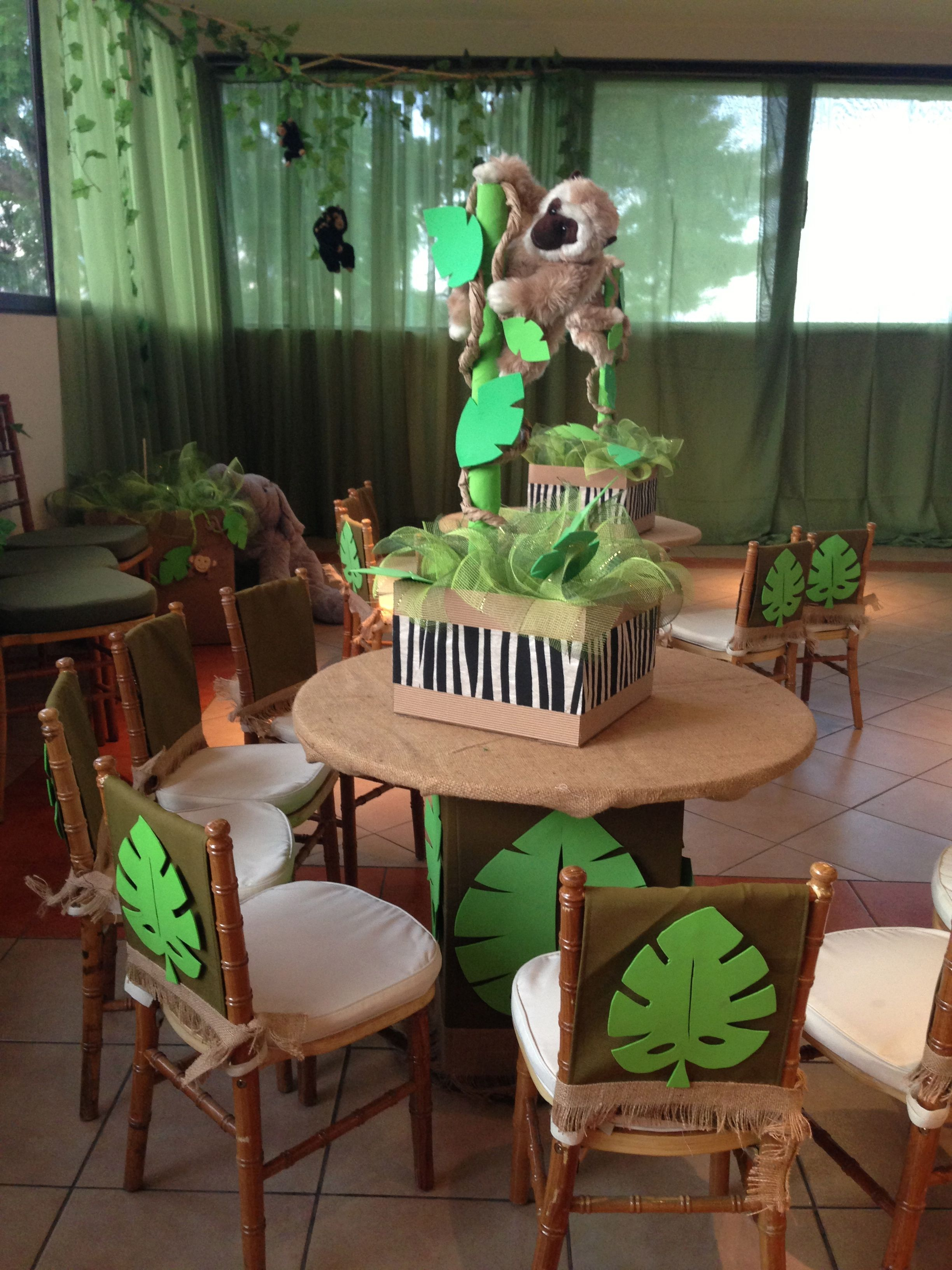 Decoracion infantil fiesta jungla eventos by bsquare - Ideas decoracion fiestas ...
