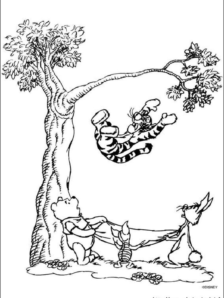 Winnie The Pooh Coloring Pages Printable Free Coloring Sheets In 2020 Tree Coloring Page Coloring Pictures Cartoon Coloring Pages