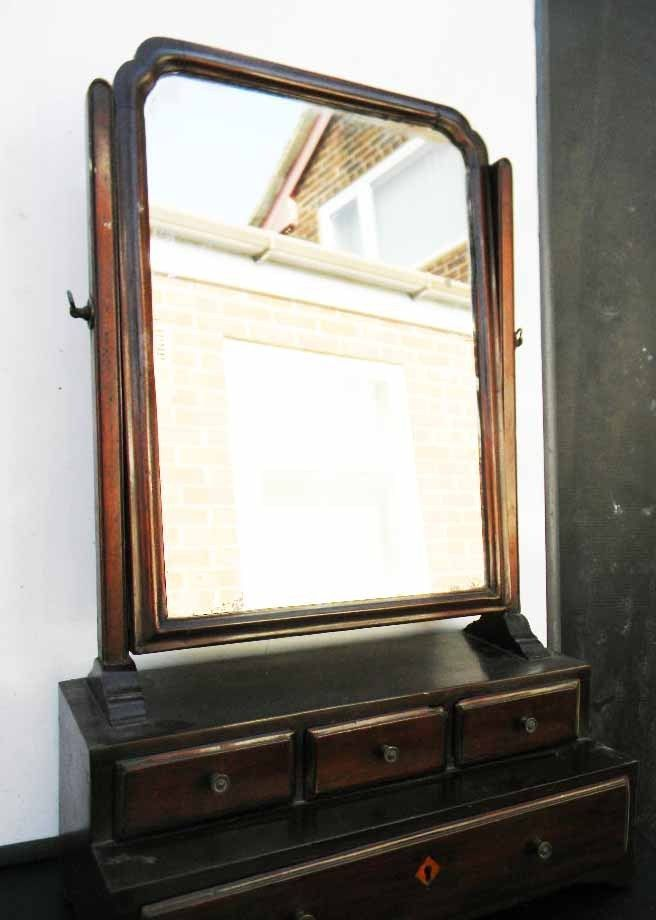 Cuban mahogany & oak lined draws lovely quality Georgian lady's dressing top swing mirrored vanity unit, as well over 300 years old this item is not perfect having the odd blemish of time but still looks good and as practical to day as when first made, offering free UK delivery on condition of paying full asking price.