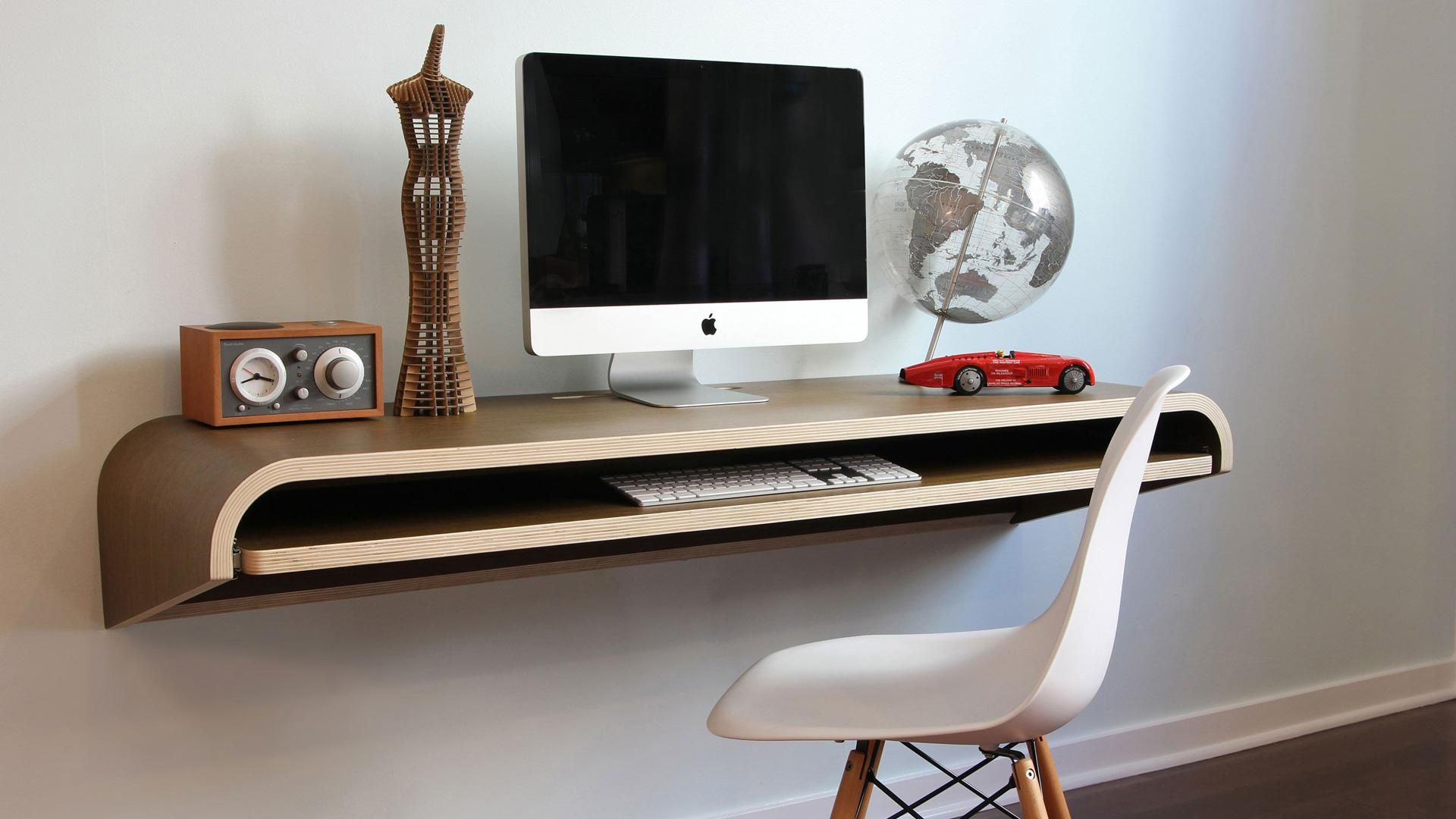 9 Wall Mounted Desks That Are Perfect For Small Spaces Home Office Furniture Wall Desk Floating Wall Desk