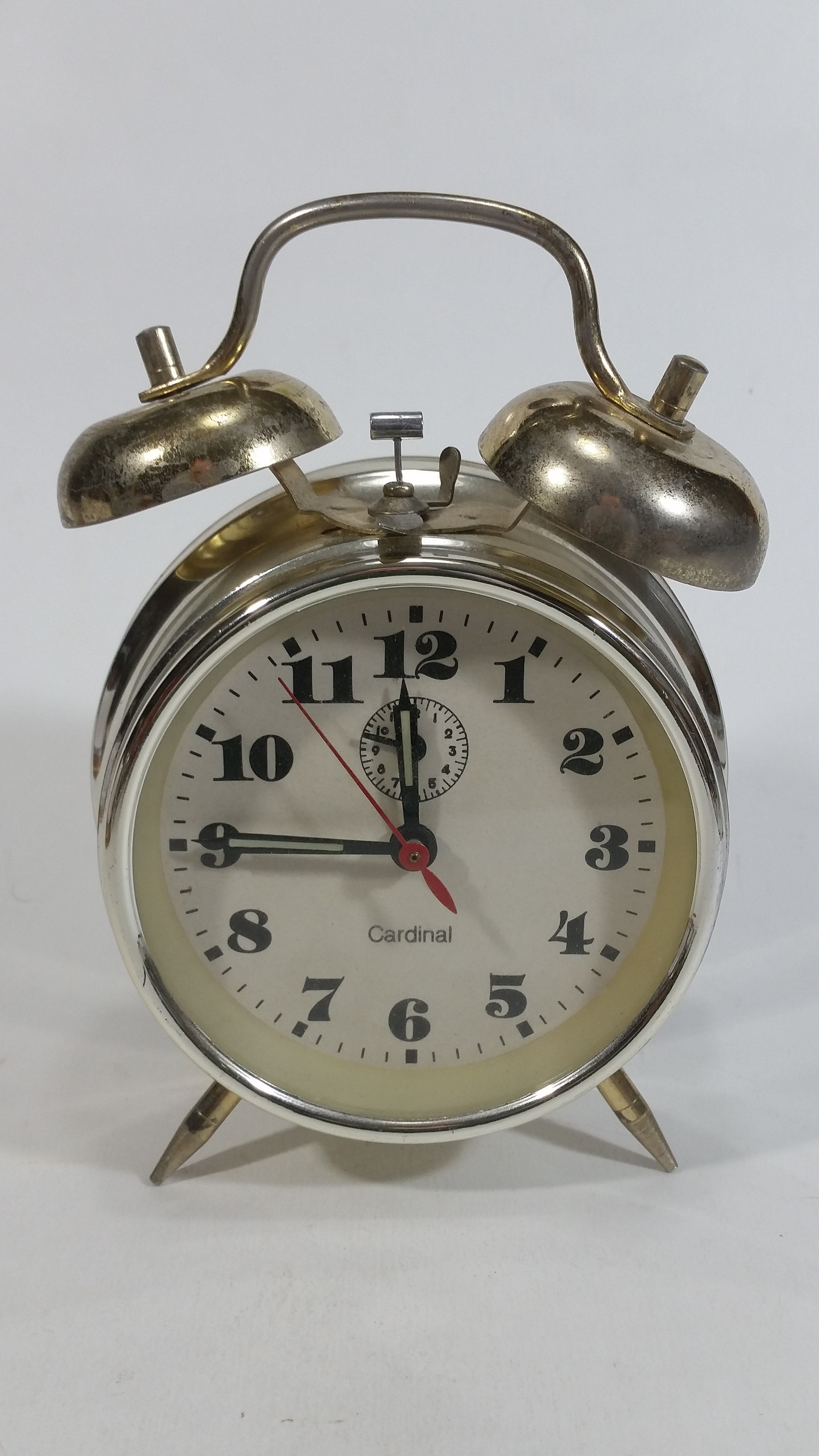 Cardinal Brand Double Bell Wind Up Alarm Clock Alarm Clock