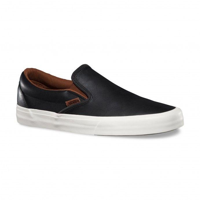 Vans Zapatos Classic Slip-On CA (Veggie Leather) Black