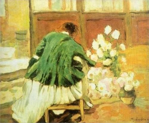 Green coat - Stefan Luchian