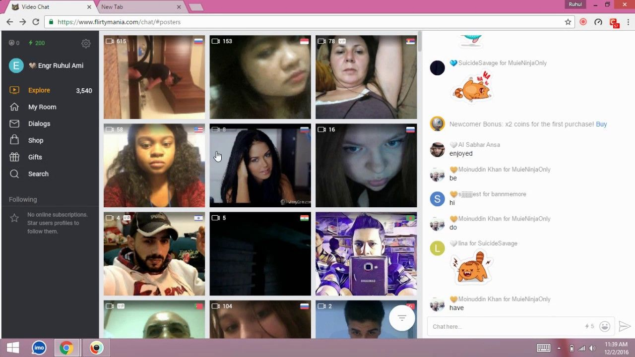 FlirtyMania is a video calling app used by millions of