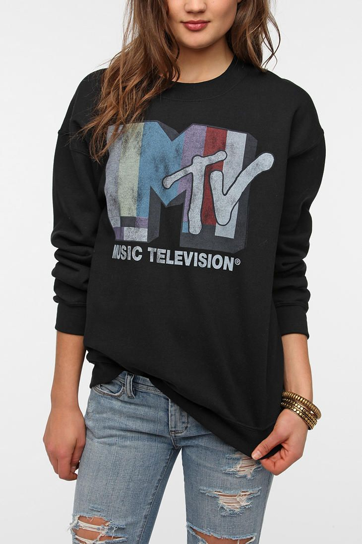 43a7db11f09 Junk Food MTV Sweatshirt - when Music Television was Music Videos ...