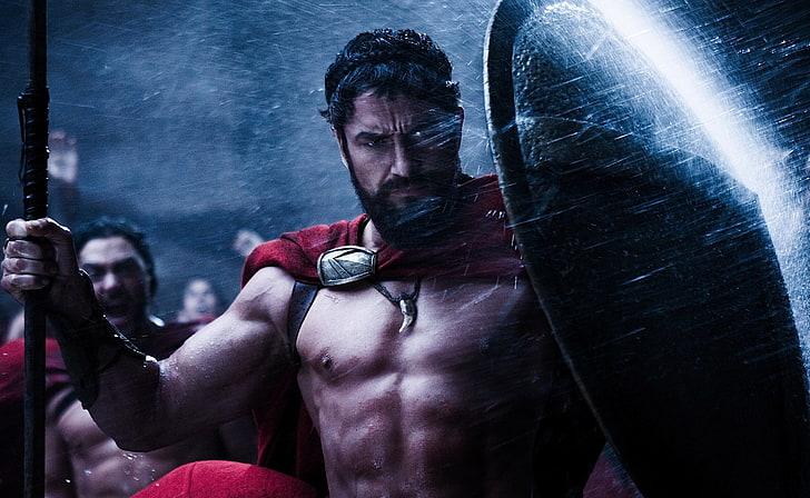 HD wallpaper: Gerard Butler 300, 300 King Leonidas digital wallpaper, Movies