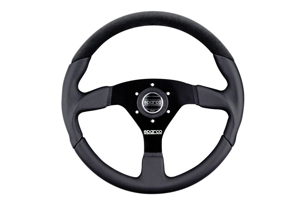 Sparco Lap 5 L505 Series Street Racing Steering Wheel Black